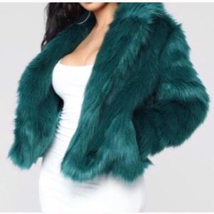 Fashion Nova Spice It Up Faux Fur Jacket